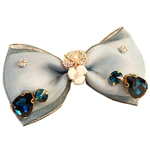 Elegant Blue Bow Belle Cheveux Griffe Mode Barrette Creative Griffe/épingle