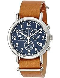 Timex Damen-Armbanduhr Chronograph Quarz Leder TW2P62300