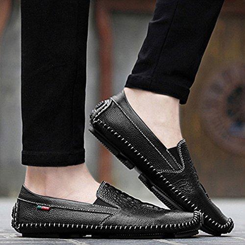 Xianshu Soft Flâneurs Enfiler Chaussures Noir