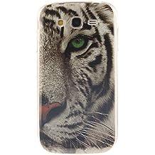 Guran® Silicona Funda Carcasa para Samsung Galaxy Grand Neo Plus / Grand Neo Smartphone Case Bumper Shock TPU Cover-Tigre