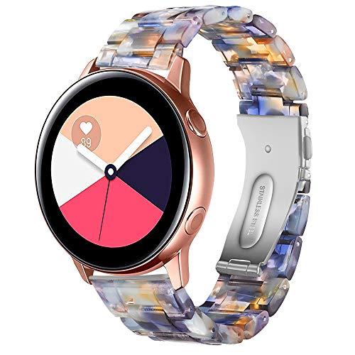 TOPsic Correa Galaxy Watch Active 40mm, Reemplazo de Banda de Silicona Suave Deportiva Pulsera de Repuesto para Galaxy Watch 42mm/Galaxy Watch Active2/Gear Sport/Gear S2 Classic/Vivoactive 3 (A)