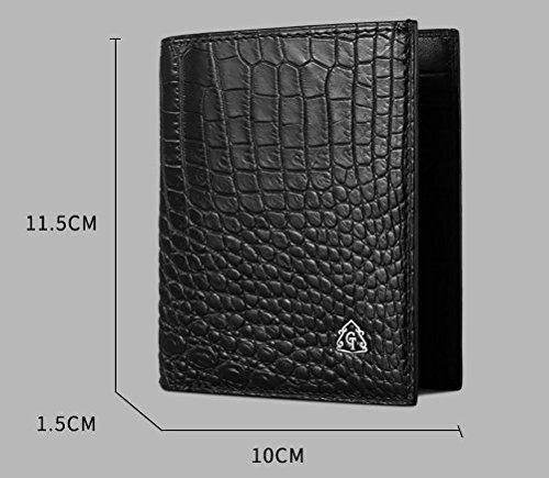 lpkone-Nouvelle mosaïque à motifs crocodile sac à main homme portefeuilles Portefeuille d'affaires à Nicotine