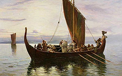 "Kunst für Alle Impresión artística/Póster: Robert Gibb The Last Voyage of The Viking 1882"" - Impresión, Foto, póster artístico, 95x60 cm"