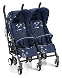 Brèves 764239Stroller–Strollers (Multifunction/Combi, double, Blue, Swivel, aluminium, Hood, Rain coque)