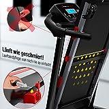 Sportstech F31 Profi Laufband mit innovativer Selbst-Schmier-Funktion & App Steuerung für Smartphone MP3 AUX Bluetooth 4PS 16km/h - klappbar und kompakt verstaubar (F31 - Aufgebaut) - 6