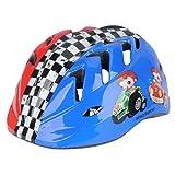 Casco da bicicletta per bambini, Skater Casco, Casco di sicurezza Meteor (M (52-56), Racing 2)