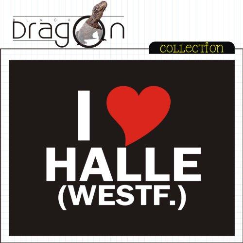 T-Shirt mit Städtenamen - i Love Halle (Westf.) - Herren - unisex Schwarz