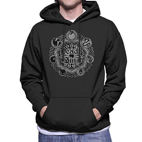 Cloud City 7 Seven Deadly Sins Shield Men\'s Hooded Sweatshirt