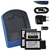 2x Akku + Ladegerät (Netz+Kfz+USB) für Veho MUVI K1, K2 / Nilox F-60 Evo (4k) / Kitvision Edge HD30W / AEE Magicam S71, S80, S90...
