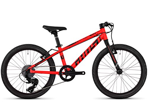 Ghost Kato Kid R1.0 AL U 20R Kinder Mountain Bike 2018 (27cm, Neon Red/Night Black)