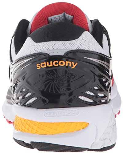 Saucony Hurricane Iso 2, Chaussures de Running Entrainement Homme Rouge (Red (Red/White/Orange)Red/White/Orange)