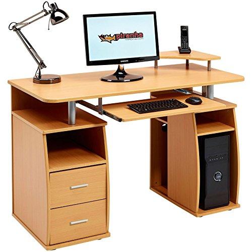 Piranha Pc5b Großer Computer-Schreibtisch mit 2Schubladen und 4Ablagen -