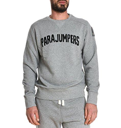 Parajumpers Homme CF01CALEB566 Gris Coton Sweatshirt: Amazon.fr: Vêtements et accessoires