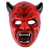 Eizur Halloween Horreur Masque Drôle Diversité Monstre Effrayant Facial Masque pour Halloween Partie Fantaisie Dress Cosplay Costume Props Carnaval Ball--Rouge Diable