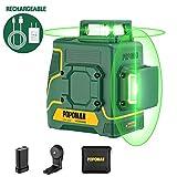 Niveau Laser Vert 2 x 360° POPOMAN, 2D Ligne Laser 45m, Charge USB et Batterie au lithium, Autonivellement, Mode Pulsé Extérieu, Support Magnétique, 360° Pivotant, IP54, Sac de transport - MTM340B...