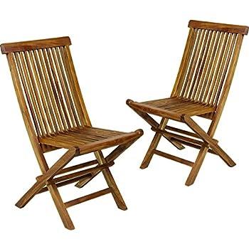 Wood-en-Stock chaises de jardin pliante en teck huilé: Amazon.fr: Jardin