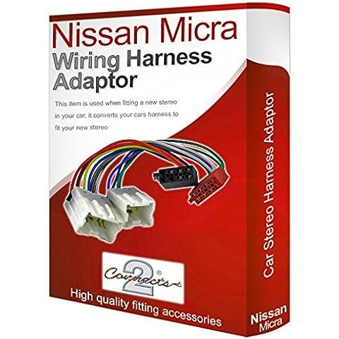 Nissan Micra CD radio stereo cablaggio Adattatore loom ISO Convertitore Cavo - Nissan Radio Cablaggio