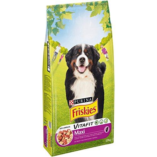 Friskies vitafit maxi crocchette per il cane, con manzo, 10 kg