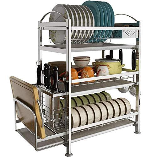 WYX Edelstahl Küche Geschirr Rack Drain Rack Trockenegeschirr Geschirr Teller Drain Schrank Aufbewahrung Box Rack Rack