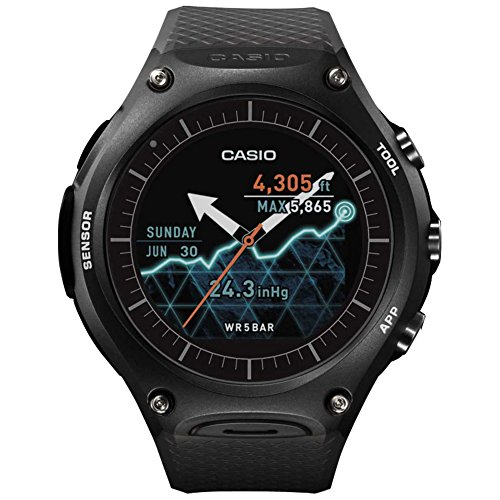 Casio Multi-Colour Dial Unisex Smart Watch-SW001 (WSD-F10BK)