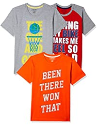 Sunday Sale : Flat 50% And More OFF On Cherokee Boys' Plain Combo T-Shirt (Pack of 3) low price image 3