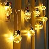 LE Guirnalda de Luces LED, 6m 25 Bombillas, Bajo Consumo, Luz Blanca Cálida, Decoración de Casa, Jardín, Fiestas, Terraza etc.
