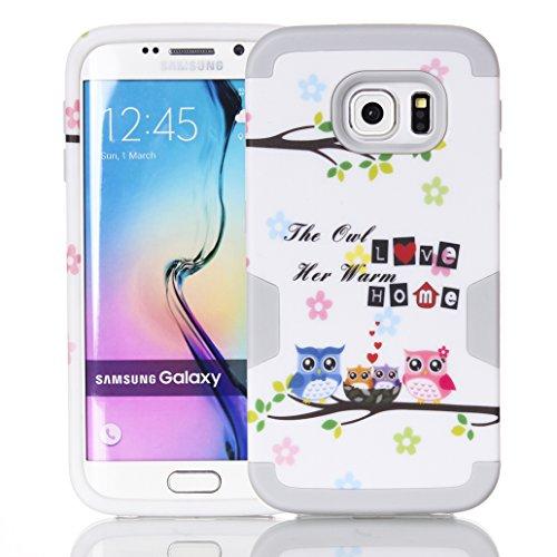 Galaxy S7 Edge Ibrido Custodia 360° Grad Full Body Protection, Yoowei® Hybrid Heavy Duty Antiurto 3 in 1 Ibrido Rugged Duro PC + Morbido Gomma Silicone Case Cover per Samsung Galaxy S7 Edge, Gufo