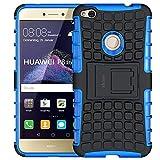 """Funda Huawei P8 Lite 2017, ykooe Teléfono Híbrida de Doble Capa con Soporte Carcasa para Huawei P8 Lite 2017 5,2"""" Azul"""