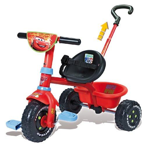 Imagen 1 de Smoby - Triciclo con mango con diseño de Cars 2 (444156)