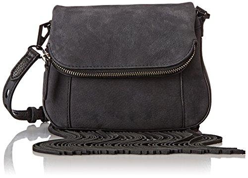 Rebecca Minkoff Mini Crosby Crossbody Bag w/ Fringe Femmes Cuir Black Shellac