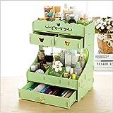ZYFMX Hölzerner Aufbewahrungsbehälter Desktop Korea DIY Cosmetic Storage Box, G
