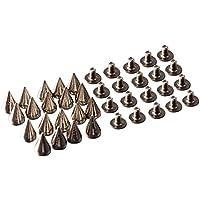 Remache - SODIAL(R) 20pzs Remache de pink de plata - Adecuado para la decoracion en su DIY empaqueta, pulseras de cuero, ropa, zapatos, etc.