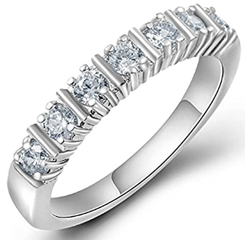 SaySure - Luxury Austrian Crystal Finger Eternity Ring (SIZE : 7)