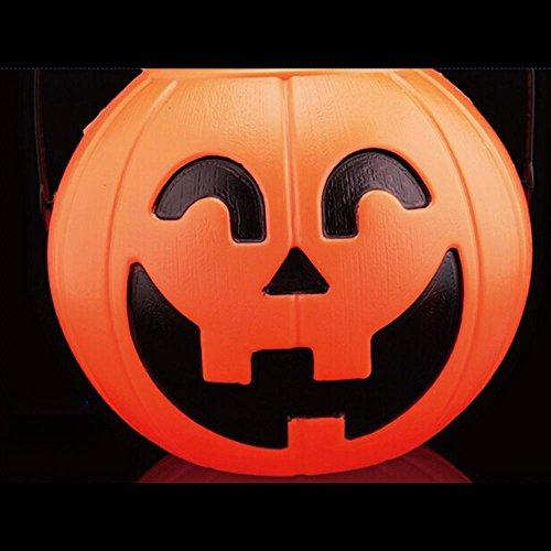 HuntGold 2X Halloween PropPartei Verein Kunststoff Kürbis Eimer Süßigkeiten Topflappen Dekoration (Typ 1)(Versand aus HK,Lieferzeit :10-25 - Kürbis Eimer Kunststoff Halloween