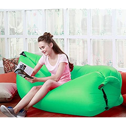 Homeself Outdoor cuscino gonfiabile portatile impermeabile Air Filled Balloon Air Bag, Sacco a pelo, Aria (Gonfiabile Lounger)