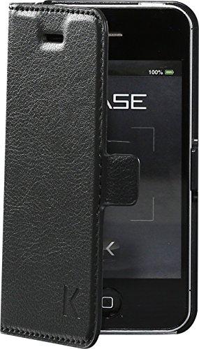 Coque clapet aimantée avec pochette CB pour Apple iPhone 4/4s, Noir