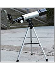 Divinext Land & Sky Telescope - Optical Glass & Metal Tube Refractor Telescope (90X Power) With Tripod & 2 Eyepieces