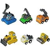 6 pièces Véhicule Miniature Camion de Chantier Voiture à Friction Avec un livre à colorier pour les Enfants de 3 Ans