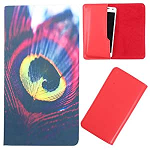 DooDa - For iBall Andi 4.5 Ripple PU Leather Designer Fashionable Fancy Case Cover Pouch With Smooth Inner Velvet