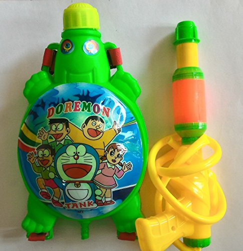 Kids holi pichkari water gun with back pack tank(1.5 L)...