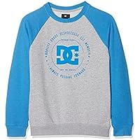 DC Shoes Rebuilt Sweatshirt, Niños, Blue/Grey-Combo, 12/M