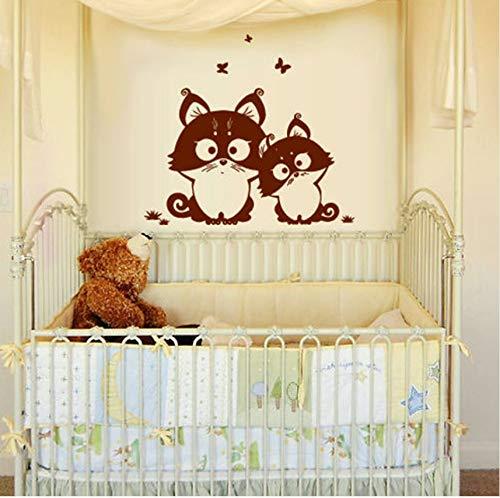 Ljtao Wand Vinyl Aufkleber Schlafzimmer Kinder Aufkleber Kitty Cat Nursery Butterfly -