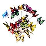 Prom-near 25 Stück Garten Schmetterlinge Stangen Libellen Stangen Libellen Patio Ornamente auf Stöcke für Pflanzendekoration, Outdoor Hof, Garten Dekoration