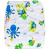 Happy Cherry Pañal de Tela a Prueba de Fugas Lavable Reutilizable Ajustable Transpirable Nappy Diaper para Recién Nacidos Bebés Niños