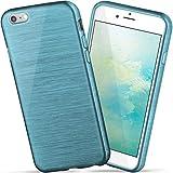 moex iPhone 6S | Hülle Silikon Türkis Brushed Back-Cover TPU Schutzhülle Ultra-Slim Handyhülle für iPhone 6/6S Case Dünn Silikonhülle Rückseite Tasche