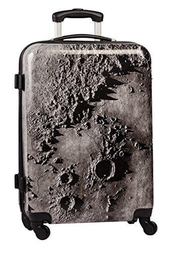 FABRIZIO Hartschalenkoffer Koffer 60 cm + Koffergurt + Flüßigkeitenbeutel (60 cm, Moon)
