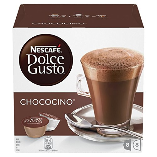 Nescafé Dolce Gusto Chococino Coffee Pods, 16 Capsules (Pack of 3 - Total 48 Capsules, 24 Servings)