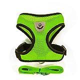 Cutepet Hundegeschirr Luftdurchlässiges Geschirr Reisenweste Für Alle Alltäglichen und Sportlichen Aktivitäten Für Kleine Mittlere Große Hunde,Green,S