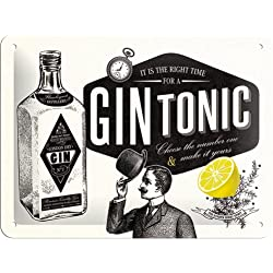Nostalgic-Art 26168 Open Bar - Gin Tonic, Blechschild 15x20 cm