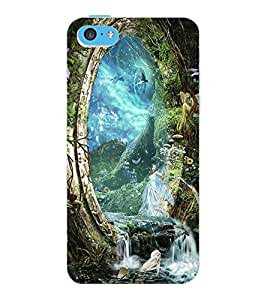 ColourCraft Heaven Design Back Case Cover for APPLE IPHONE 5C